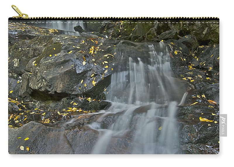 Laurel Falls Carry-all Pouch featuring the photograph Laurel Falls by Michael Peychich