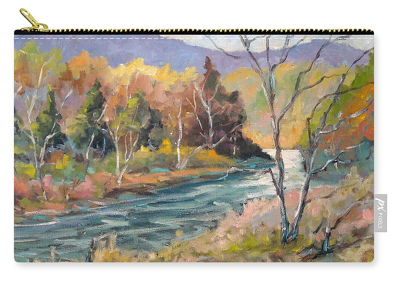 Landscape Carry-all Pouch featuring the painting Laurentian Hills by Richard T Pranke