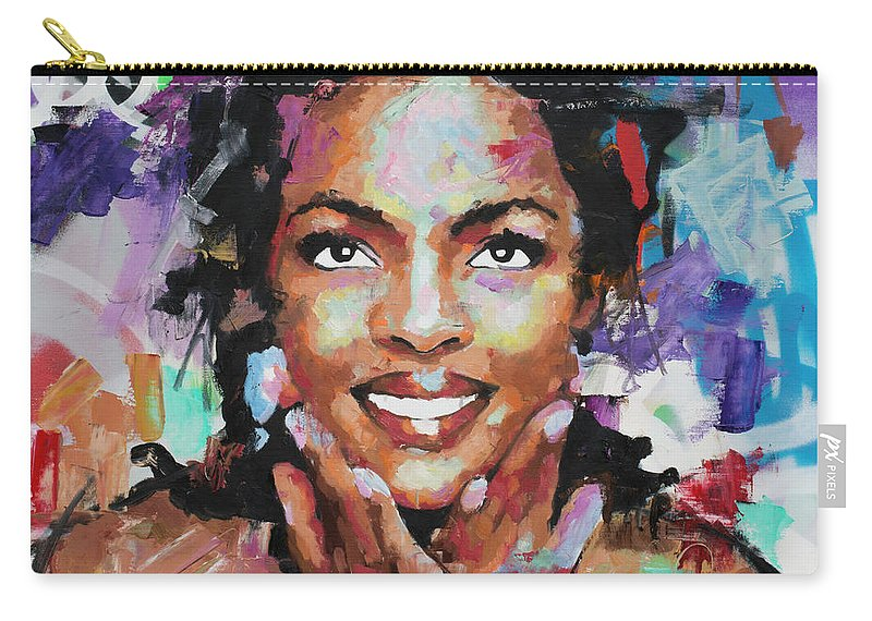 Lauryn Carry-all Pouch featuring the painting Lauryn Hill by Richard Day
