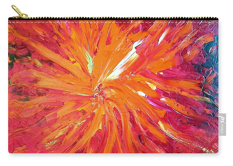 Lava Carry-all Pouch featuring the painting Lava by Dawn Hough Sebaugh