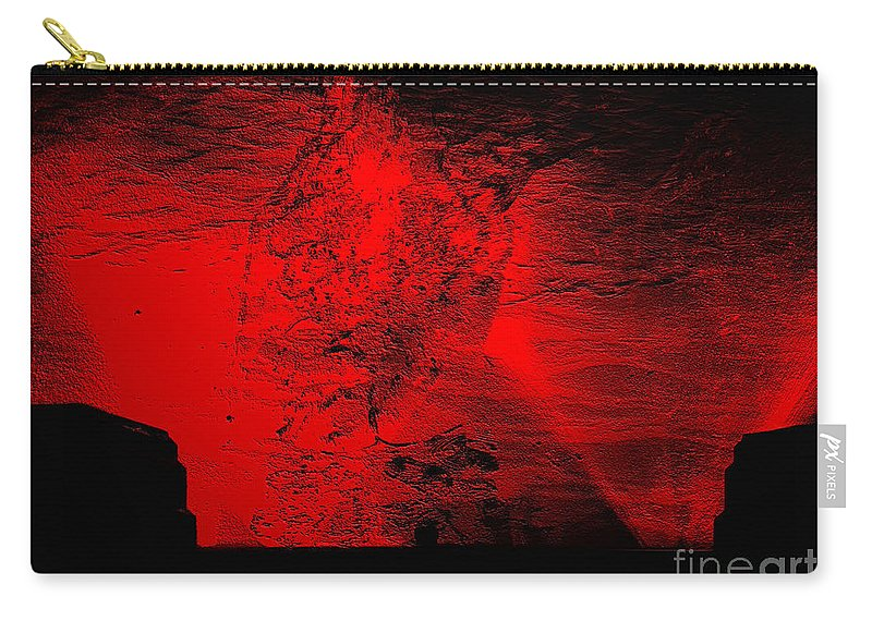 Clay Carry-all Pouch featuring the digital art Lava Fountain by Clayton Bruster