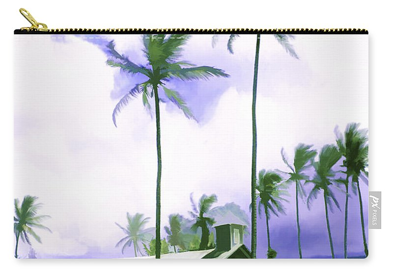 Hawaii Carry-all Pouch featuring the photograph Lava Rock Church by Kurt Van Wagner