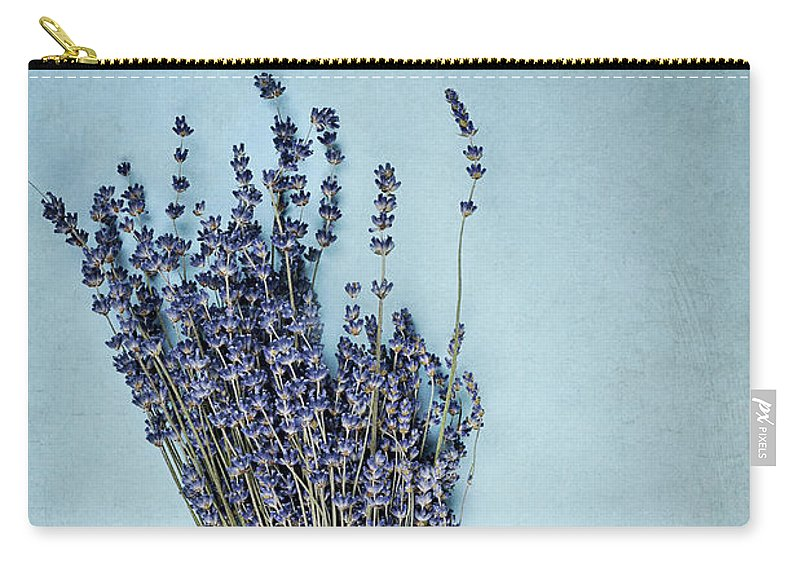 Lavender Carry-all Pouch featuring the photograph Lavender And Antique Scissors by Stephanie Frey