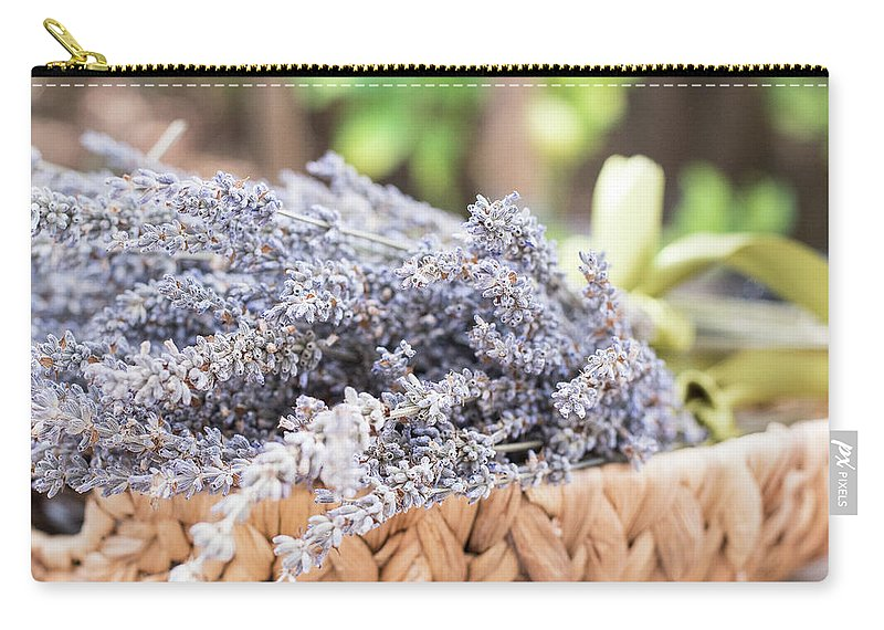 Lavender Carry-all Pouch featuring the photograph Lavender Calm by Jessica Ruscello