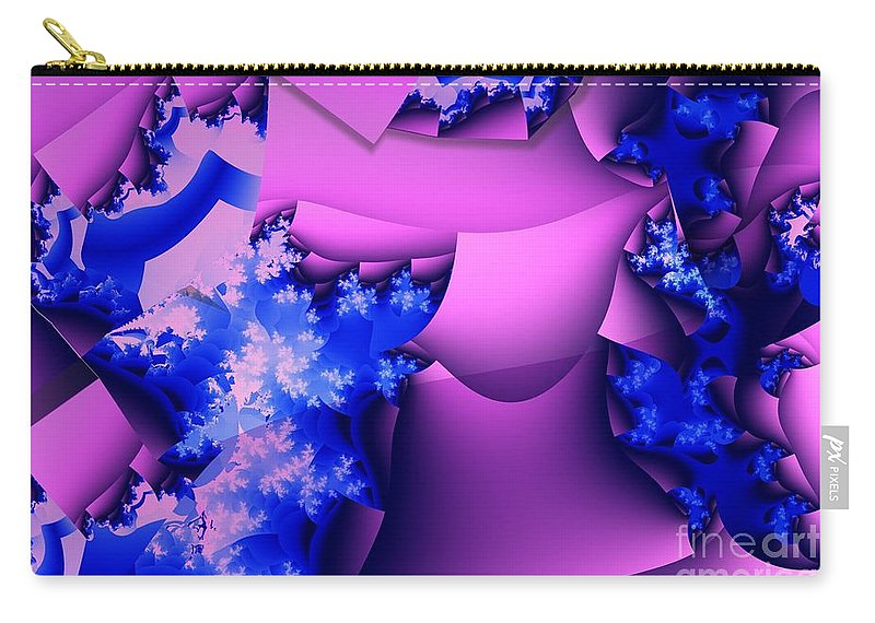 Lavender Carry-all Pouch featuring the digital art Lavender Cups by Ron Bissett