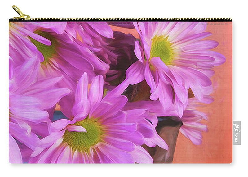 Daisy Carry-all Pouch featuring the photograph Lavender Daisies by Tom Mc Nemar