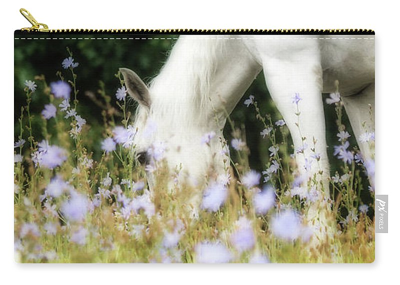 Flatlandsfoto Carry-all Pouch featuring the photograph Lavender Dreams by Joan Davis
