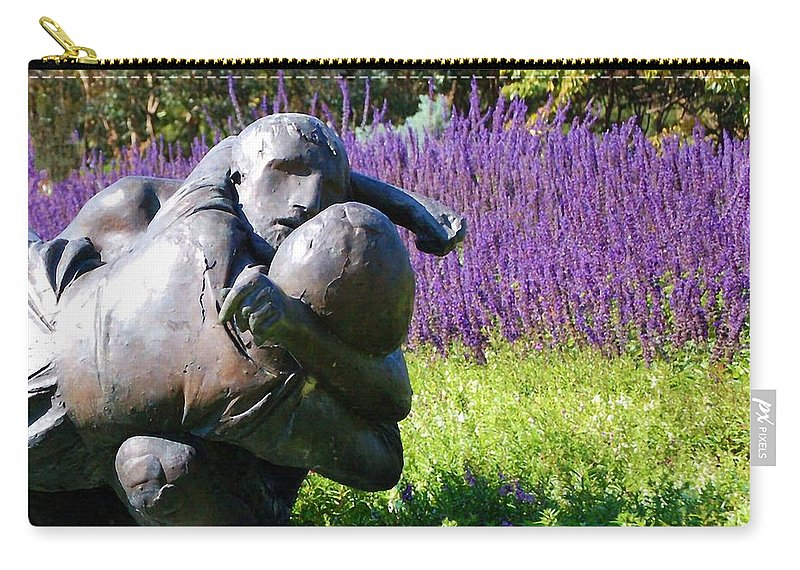 Statue Carry-all Pouch featuring the photograph Lavender Lovers by Debbi Granruth