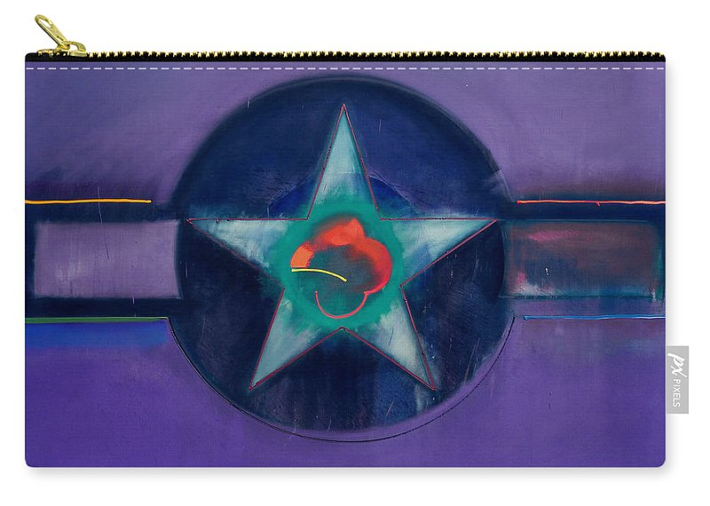 Usaaf Carry-all Pouch featuring the painting Lavender Mist by Charles Stuart