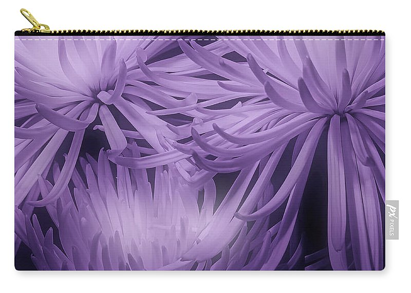 Mums Carry-all Pouch featuring the photograph Lavender Mums by Tom Mc Nemar