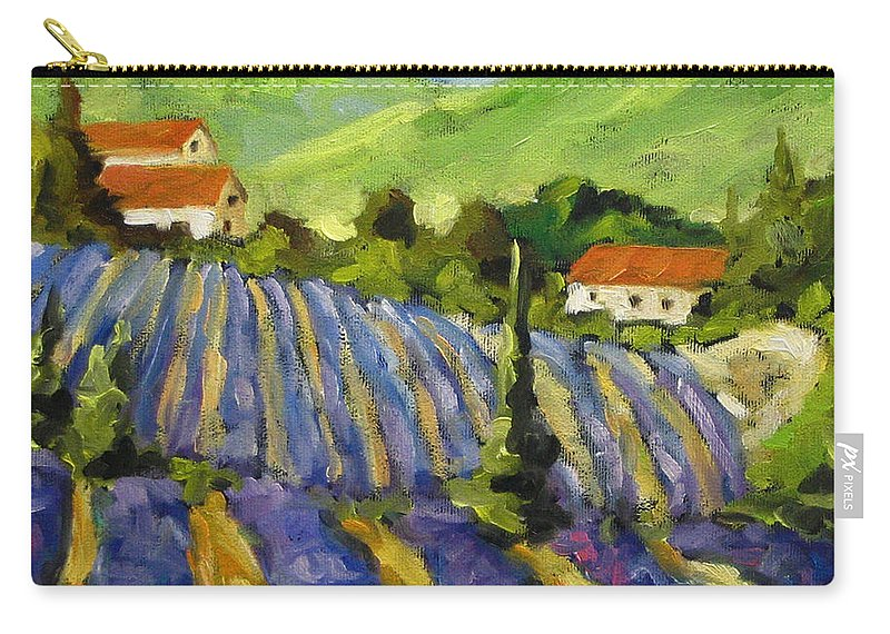 Art Carry-all Pouch featuring the painting Lavender Scene by Richard T Pranke