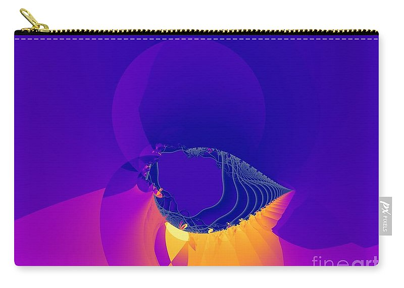 Fractal Art Carry-all Pouch featuring the digital art Lavender Sky by Ron Bissett