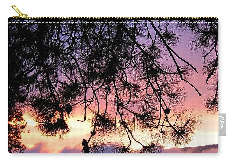 Sunset Carry-all Pouch featuring the photograph Lavender Sunset by Will Borden