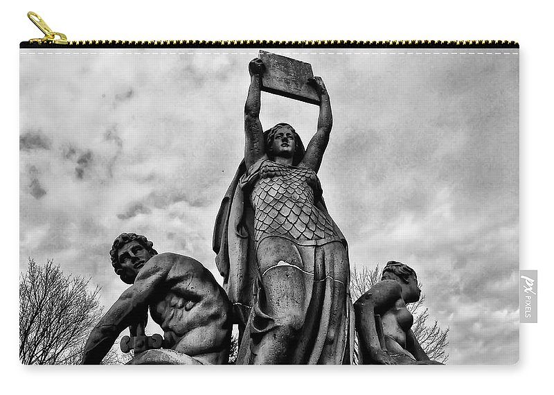 Philadelphia Carry-all Pouch featuring the photograph Law Prosperity And Power by Bill Cannon
