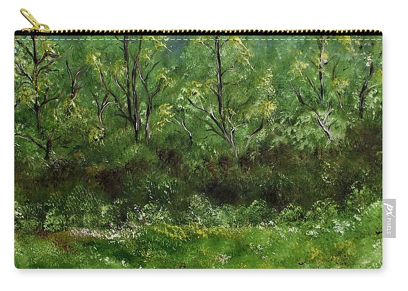 Landscape Carry-all Pouch featuring the painting Lay You Down In Soft Dreams by Lisa Aerts