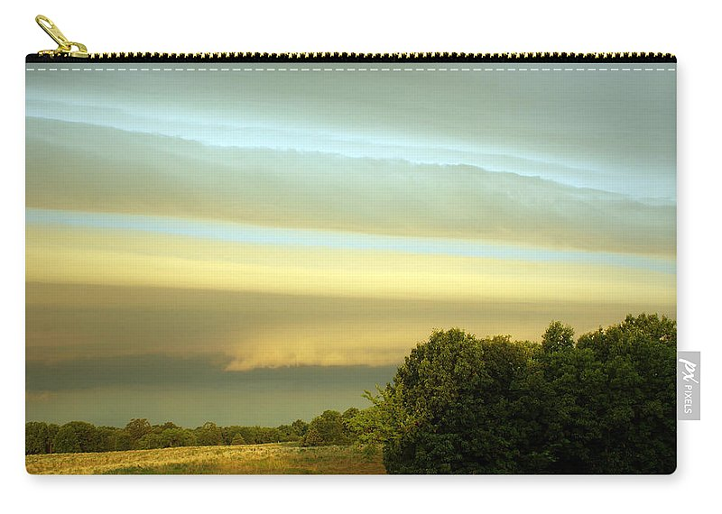 Sky Carry-all Pouch featuring the photograph Layered Clouds by Cricket Hackmann