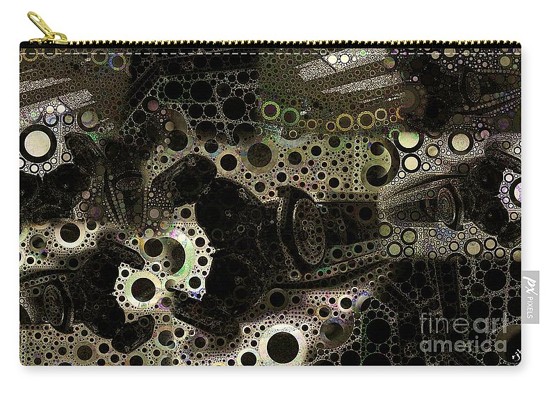Abstract Carry-all Pouch featuring the digital art Layered Collage 1 by Ron Bissett