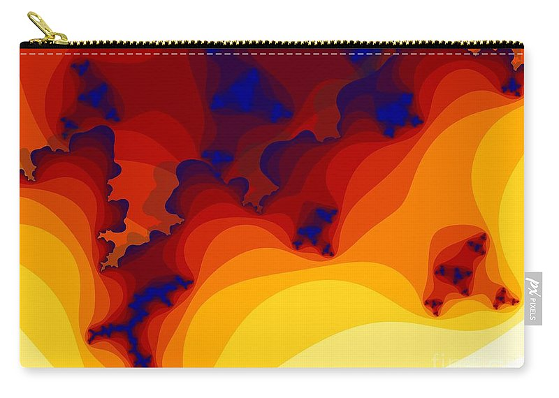 Fractal Art Carry-all Pouch featuring the digital art Layered Gells by Ron Bissett