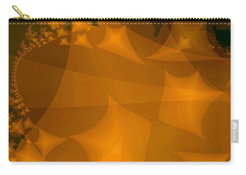 Kites Carry-all Pouch featuring the digital art Layered Kite Formations by Ron Bissett