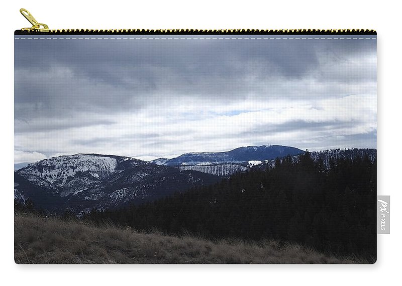 Carry-all Pouch featuring the photograph Layered Serenity by Dan Hassett