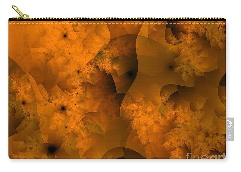 Sponge Carry-all Pouch featuring the digital art Layers In Kelp Brown by Ron Bissett