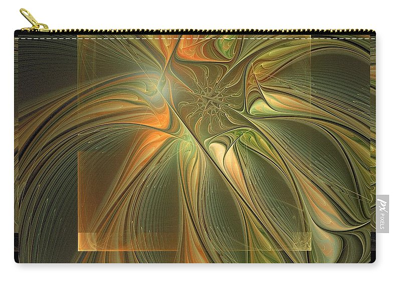 Digital Art Carry-all Pouch featuring the digital art Layers by Amanda Moore