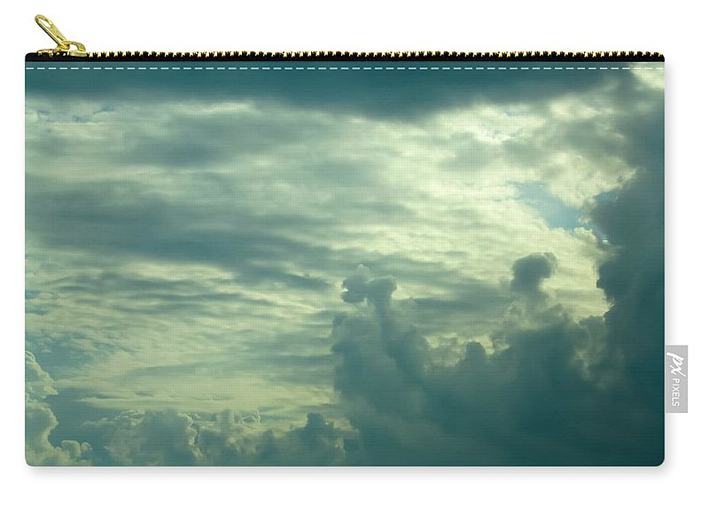 Layers Of Clouds Carry-all Pouch featuring the photograph Layers Of Clouds by Cynthia Woods