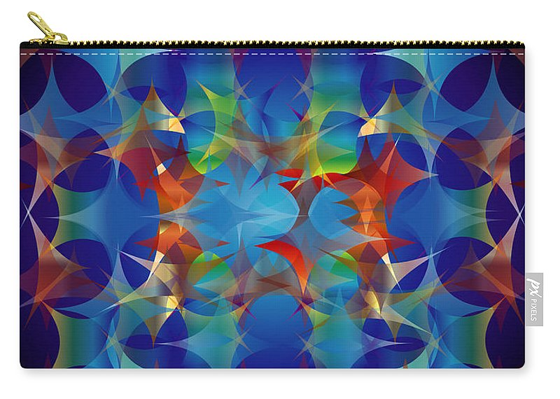 Color Carry-all Pouch featuring the digital art Layers of Color 3 by George Pasini
