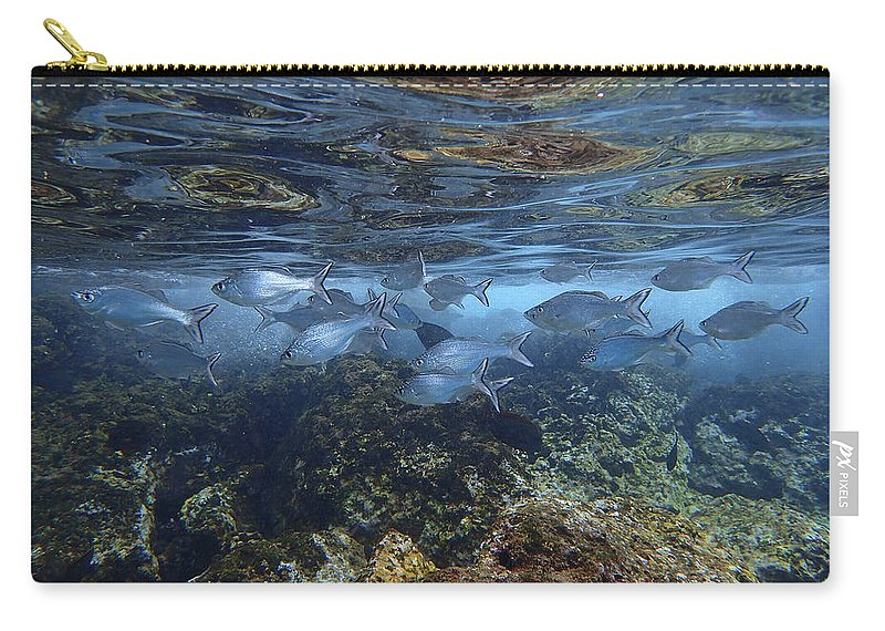 Maui Carry-all Pouch featuring the photograph Layers Of Color by Erin Donalson