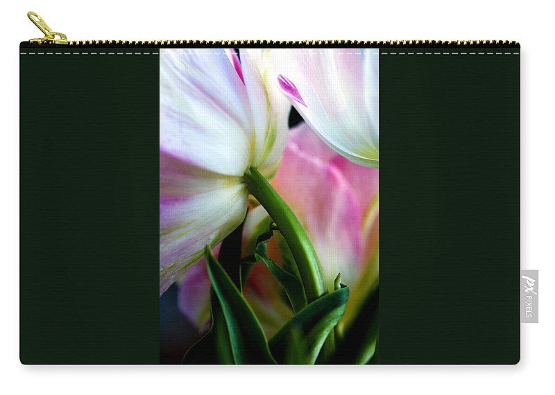 Flower Carry-all Pouch featuring the photograph Layers Of Tulips by Marilyn Hunt
