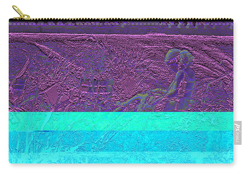 Luxembourg Garden Carry-all Pouch featuring the digital art Lazy Afternoon 2 by Marc Dettloff