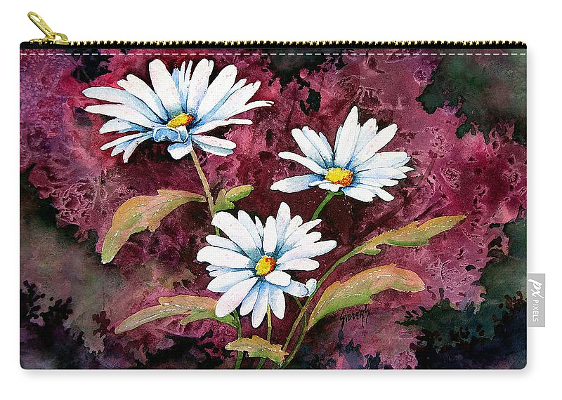 Flowers Carry-all Pouch featuring the painting Lazy Daisies by Sam Sidders