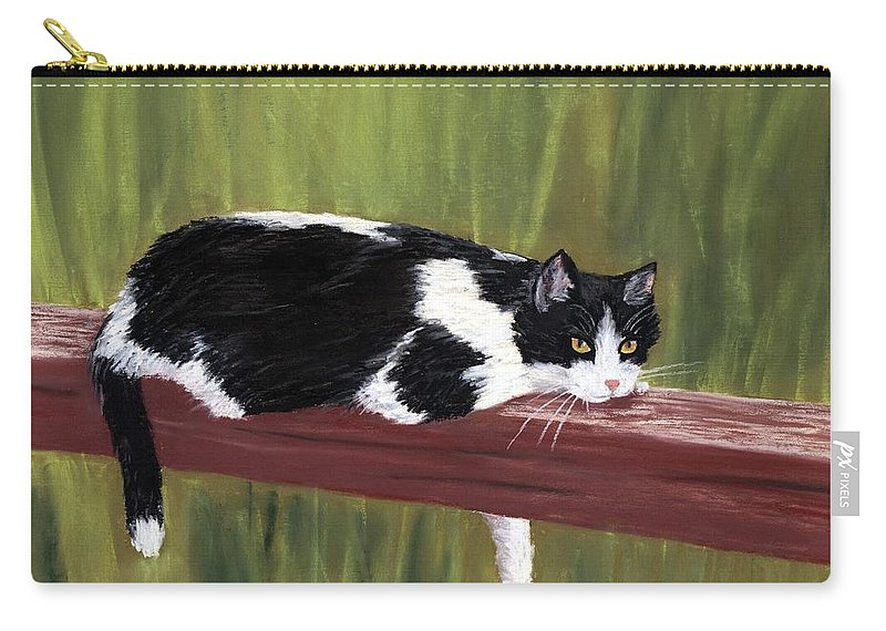 Malakhova Carry-all Pouch featuring the painting Lazy Day by Anastasiya Malakhova