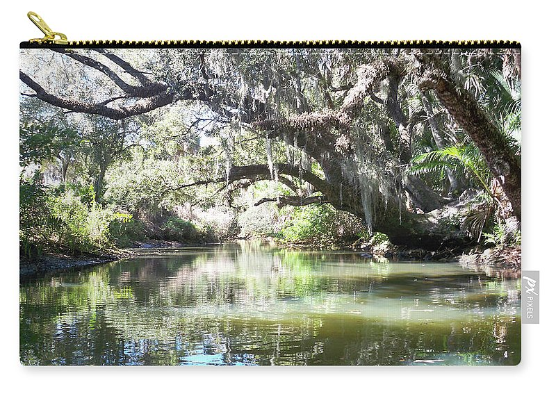 Florida Carry-all Pouch featuring the photograph Lazy River by Chris Andruskiewicz