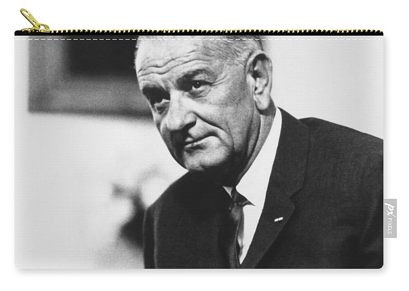 Lbj Carry-all Pouch featuring the photograph Lbj by War Is Hell Store