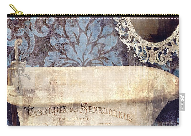 Bath Carry-all Pouch featuring the painting Le Bain Paris Blue by Mindy Sommers