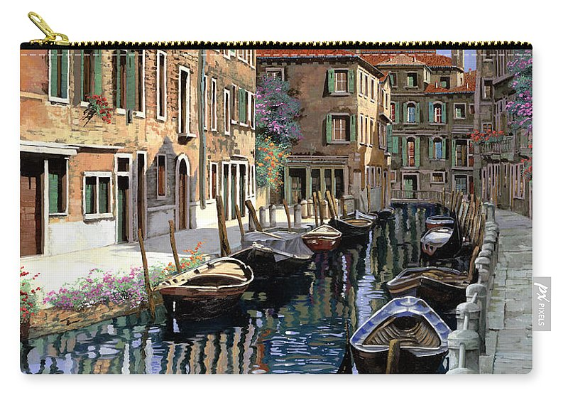 Venice Carry-all Pouch featuring the painting Le Barche Sul Canale by Guido Borelli