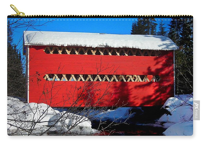 North America Carry-all Pouch featuring the photograph Le Boise Du Pont-rouge ... by Juergen Weiss