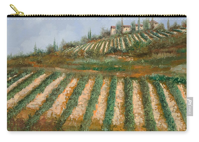 Vineyard Carry-all Pouch featuring the painting Le Case Nella Vigna by Guido Borelli