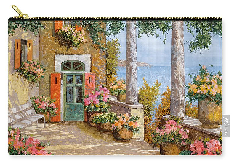 Terrace Carry-all Pouch featuring the painting Le Colonne Sulla Terrazza by Guido Borelli