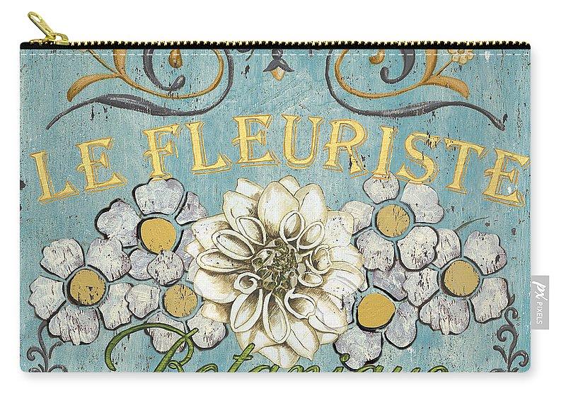 Flowers Carry-all Pouch featuring the painting Le Fleuriste de Botanique by Debbie DeWitt