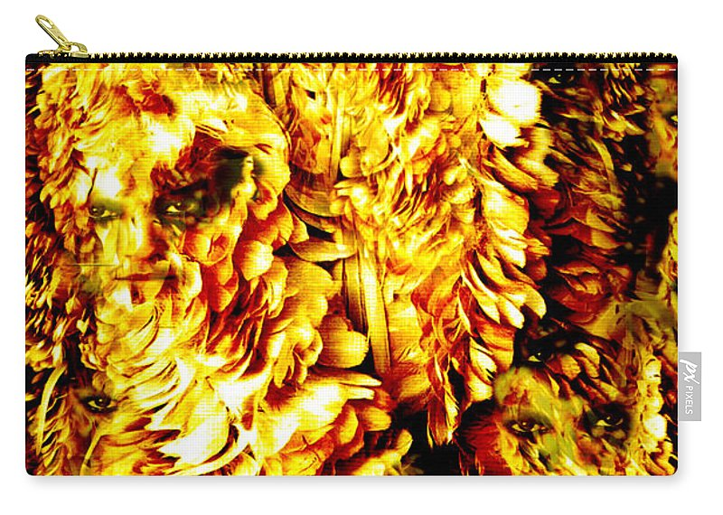 Feathers Carry-all Pouch featuring the digital art Le Flock by Seth Weaver