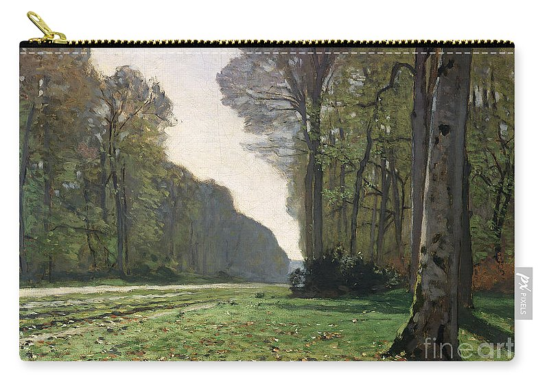 The Carry-all Pouch featuring the painting Le Pave de Chailly by Claude Monet
