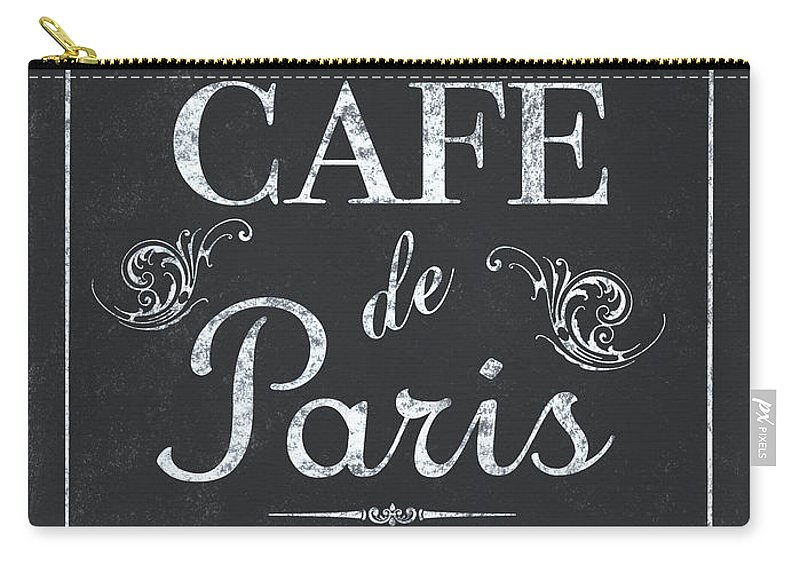 Cafe Carry-all Pouch featuring the painting Le Petite Bistro 3 by Debbie DeWitt