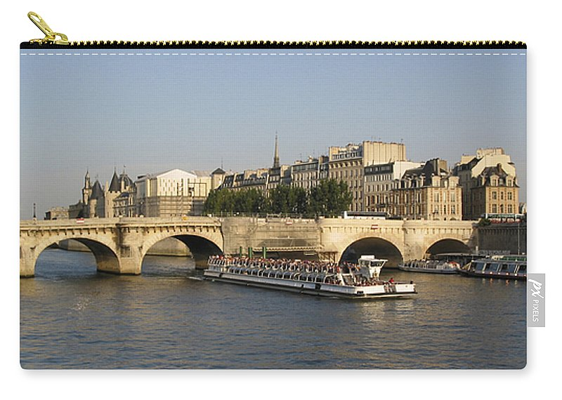 And Carry-all Pouch featuring the photograph Le Pont Neuf. Paris. by Bernard Jaubert