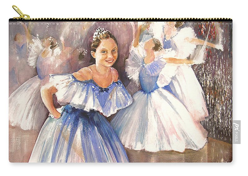 Music Carry-all Pouch featuring the painting Le Premier Pas by Miki De Goodaboom