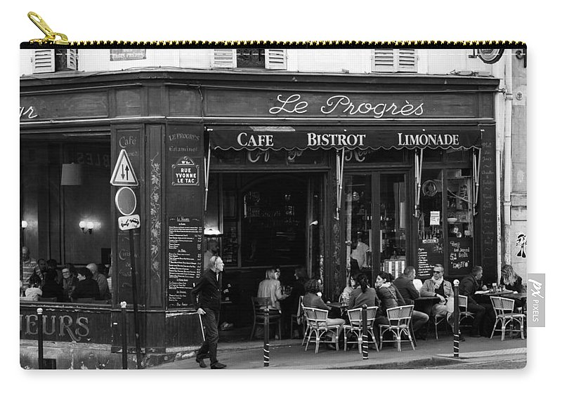 Le Progres Carry-all Pouch featuring the photograph Le Progres by Pati Photography
