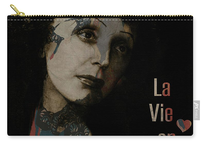 Edith Piaf Carry-all Pouch featuring the digital art Le Vie En Rose by Paul Lovering