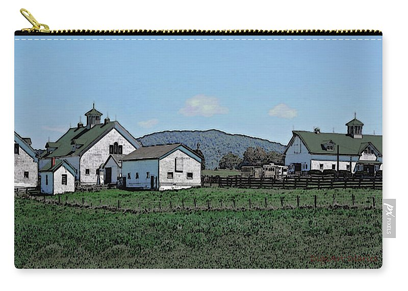 Barns Carry-all Pouch featuring the digital art Lea Homestead by DigiArt Diaries by Vicky B Fuller