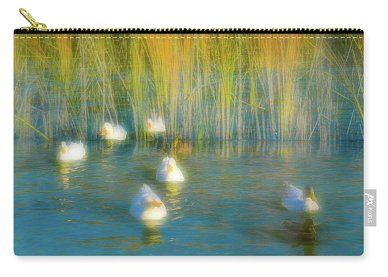 Duck Carry-all Pouch featuring the photograph Lead Me Gently Home by Alan C Wade